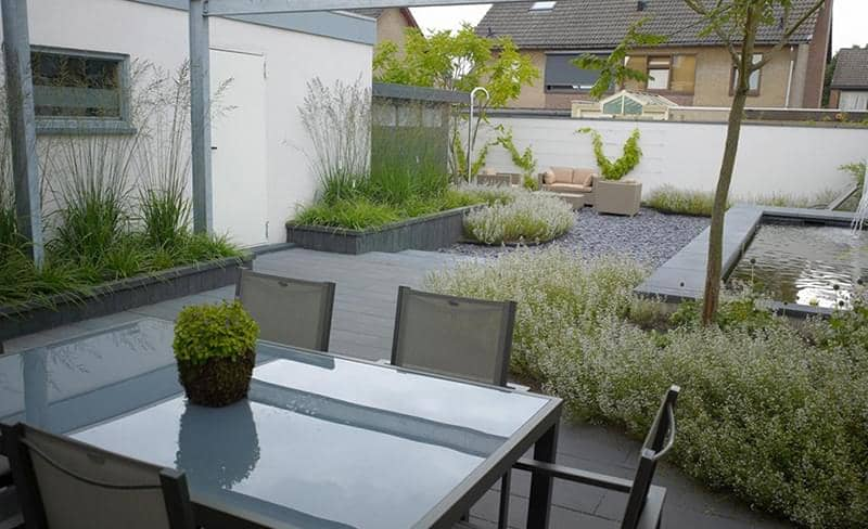 Klinkers oprit steen banenverband imperial black for Voorbeeldtuinen kleine tuin